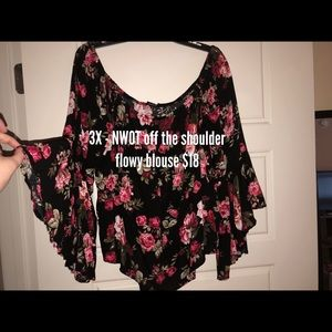 Tops - New 3X off the shoulder top. Charlotte Russe.